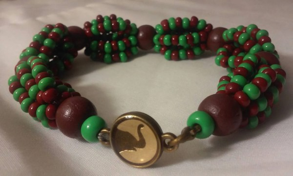 Orula Ilde Brown And Green Bracelet Africano