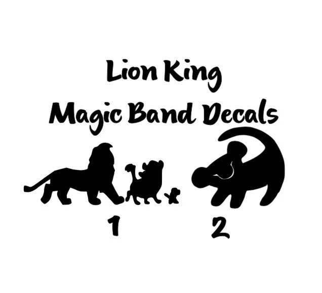 Lion King Magic Band Decals by MagicandMemories on Etsy
