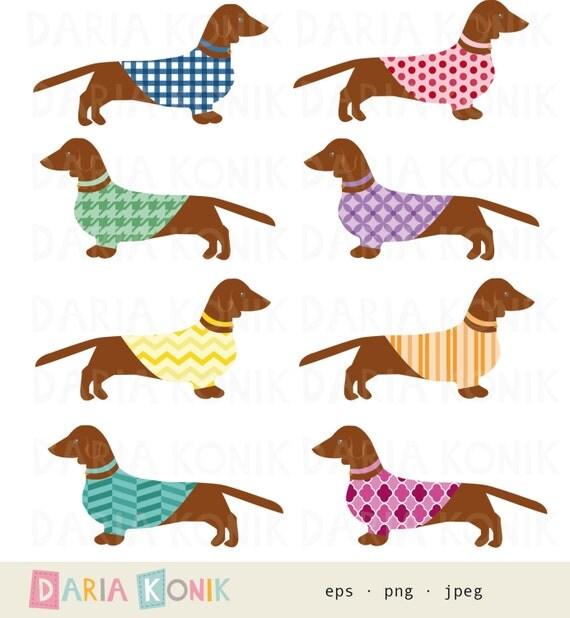dachshund clip art set-dog clipart