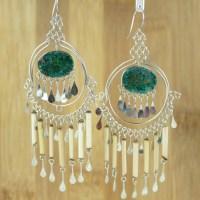 Unique Ethnic Earrings Chandelier Earrings by EarringBazooka