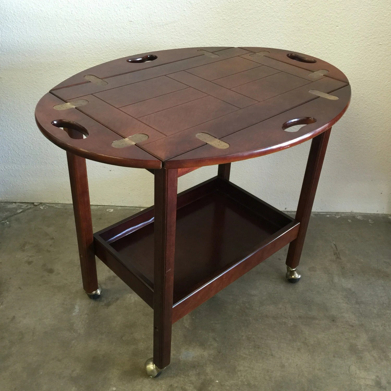Bombay Company Butler Tray Table Vintage Tea Cart Serving