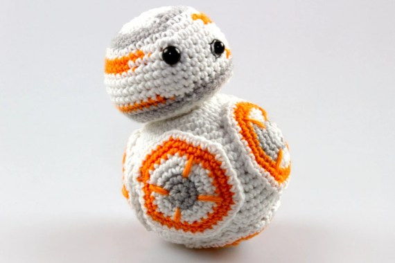 Amigurumi Crochet Star Wars Amigurumi Crochet BB8 Pattern Amigurumi Crochet Robot Crochet Toys Crochet Toy Patterns Amigurumi Toy P036