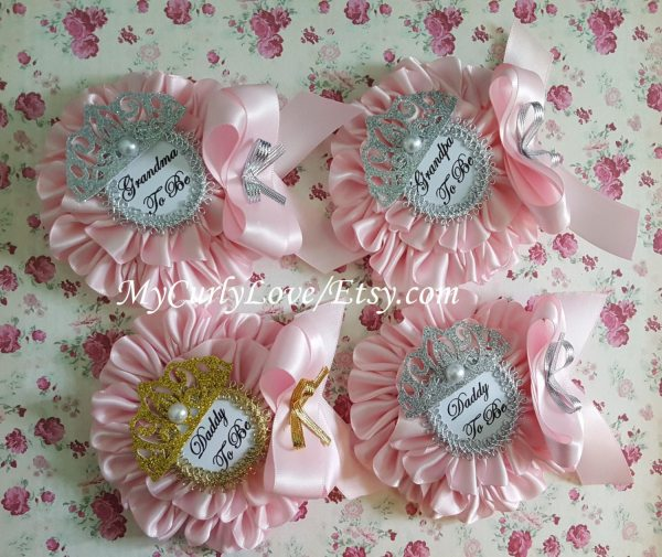 Princess Small Baby Shower Corsage Daddy