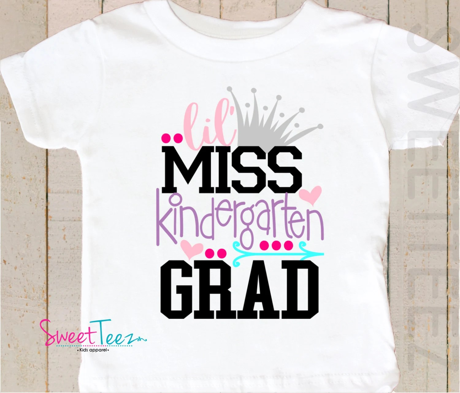 Kindergarten Graduation Shirt Little Miss Kindergarten Grad