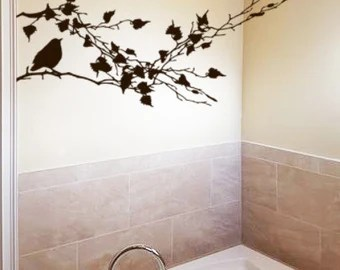 love decal bird decal tree decal branch decor branches