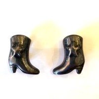 Vintage earrings sterling silver earrings cowboy boot earrings
