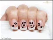 paw prints nail decal canine dog