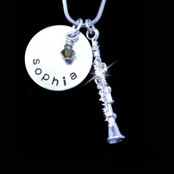 Personalized Clarinet Charm Player