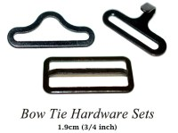 Adjustable Bow Tie hardware Hook Eye Slide 3/4 Inch