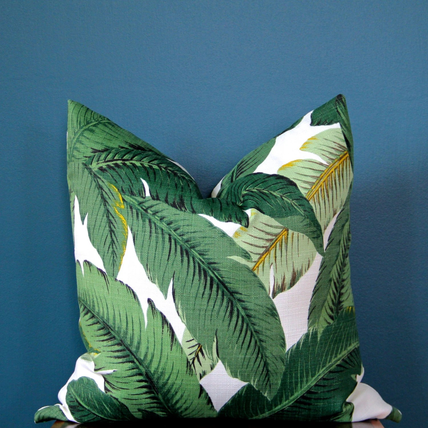 Tropical Pillow Cover Palm Leaf Pillow Cover Island Decor