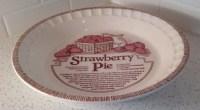 Strawberry pie plate | Etsy