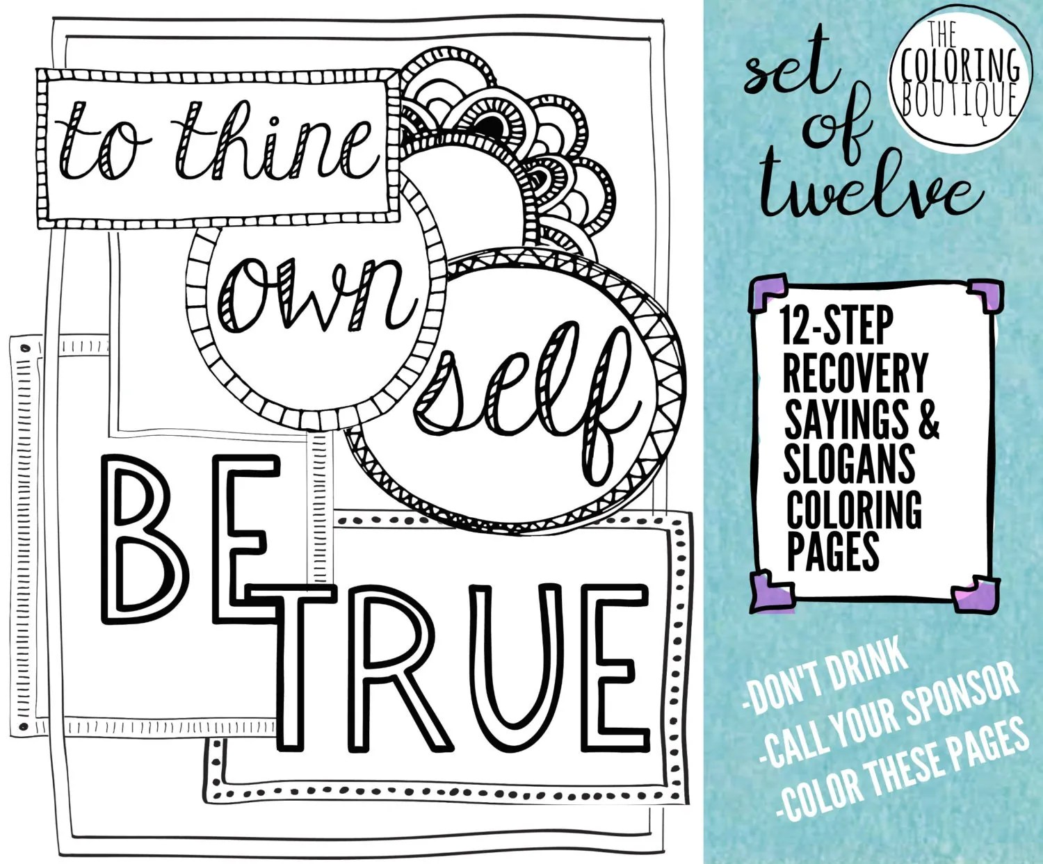 Recovery Coloring Pages 12 Steps Coloring By