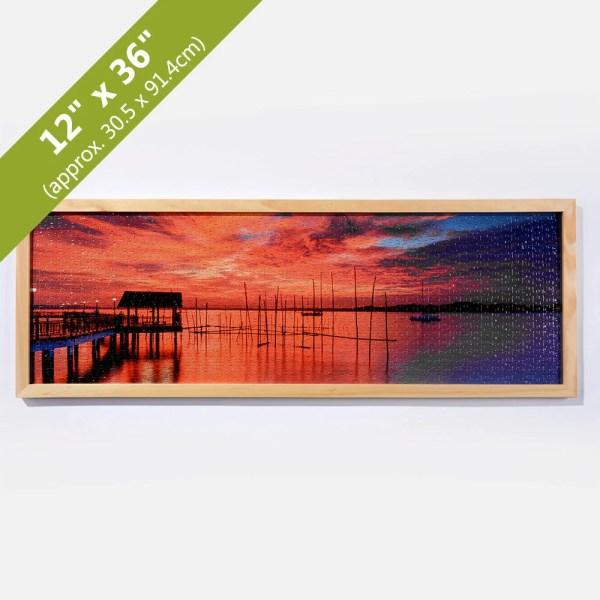 Wood Panorama Hanging Frame 12x36 Inches Createjigsawpuzzle