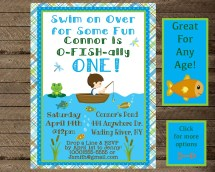 Fishing Themed Party Invitations Year Of Clean Water
