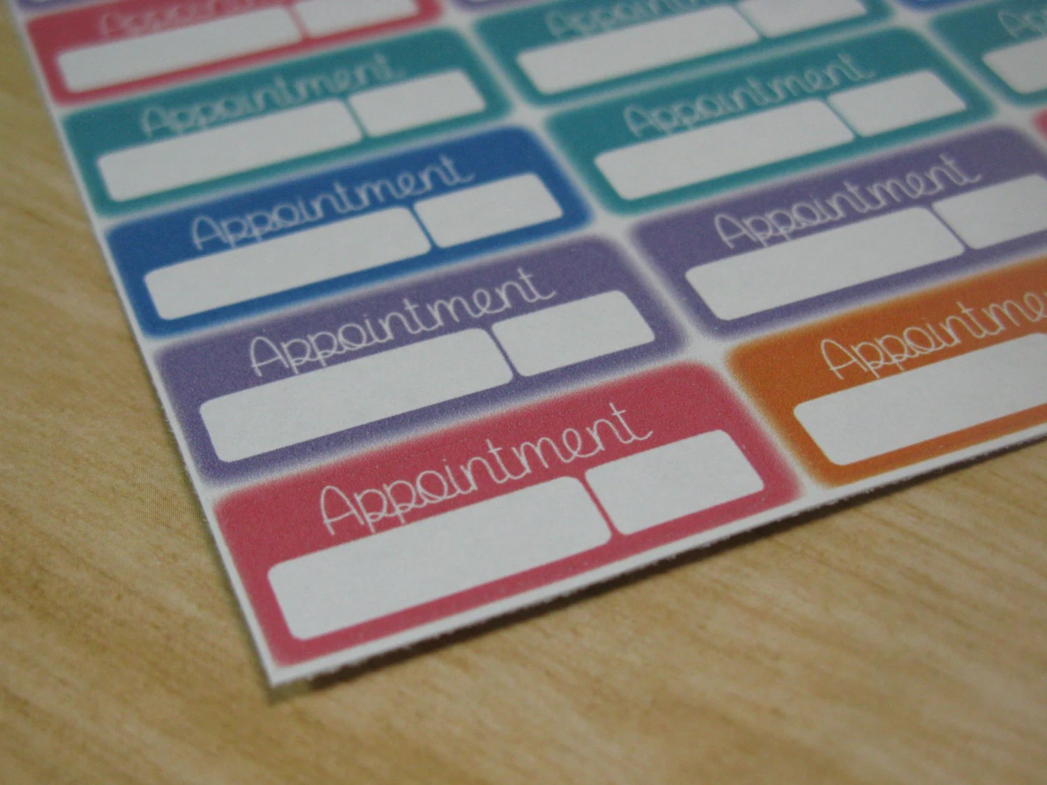 Appointment Sticker Sheet By Creationsbyrio On Etsy