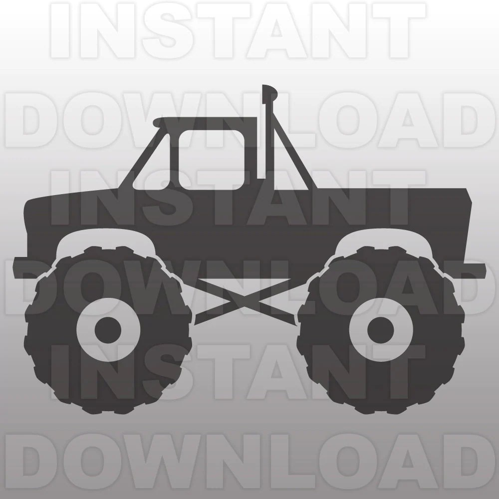 Download Monster Truck SVG File Cutting Template-Vector Clip Art for