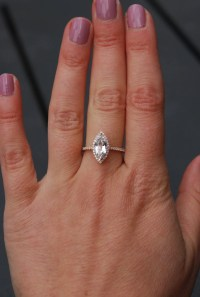 Marquise engagement ring. Rose gold diamond ring ...