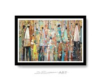 Our Colorful People Watercolor Print, African American Art ...
