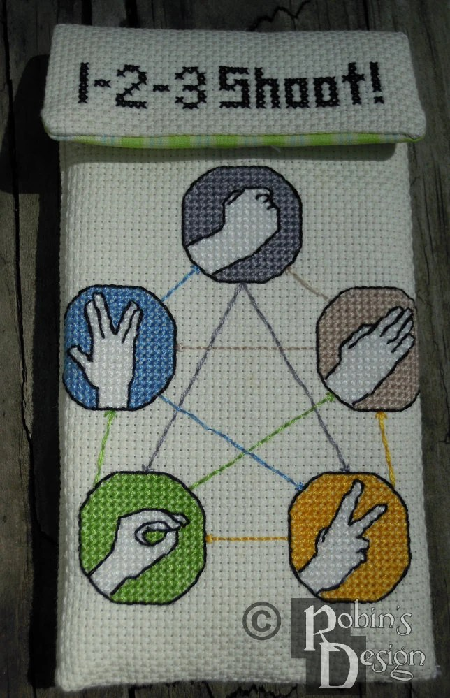 Rock Paper Scissors Lizard Spock Counted Cross By Robinsdesign