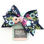 floral hair bow bows girls