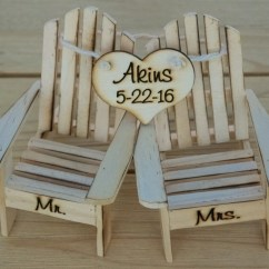 Adirondack Chair Cake Topper Ivory Wedding Covers Rental Chairs Beach Cottage