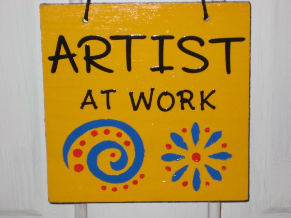 Artist Work And Art Studio Sign Quiltbarnsandfolkart