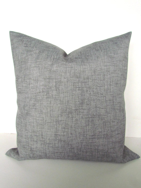 GRAY PILLOW Grey Throw Pillow Covers Indoor Outdoor Pillows