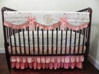 Custom Baby Girl Bedding Set Tiana Coral Baby Bedding Girl