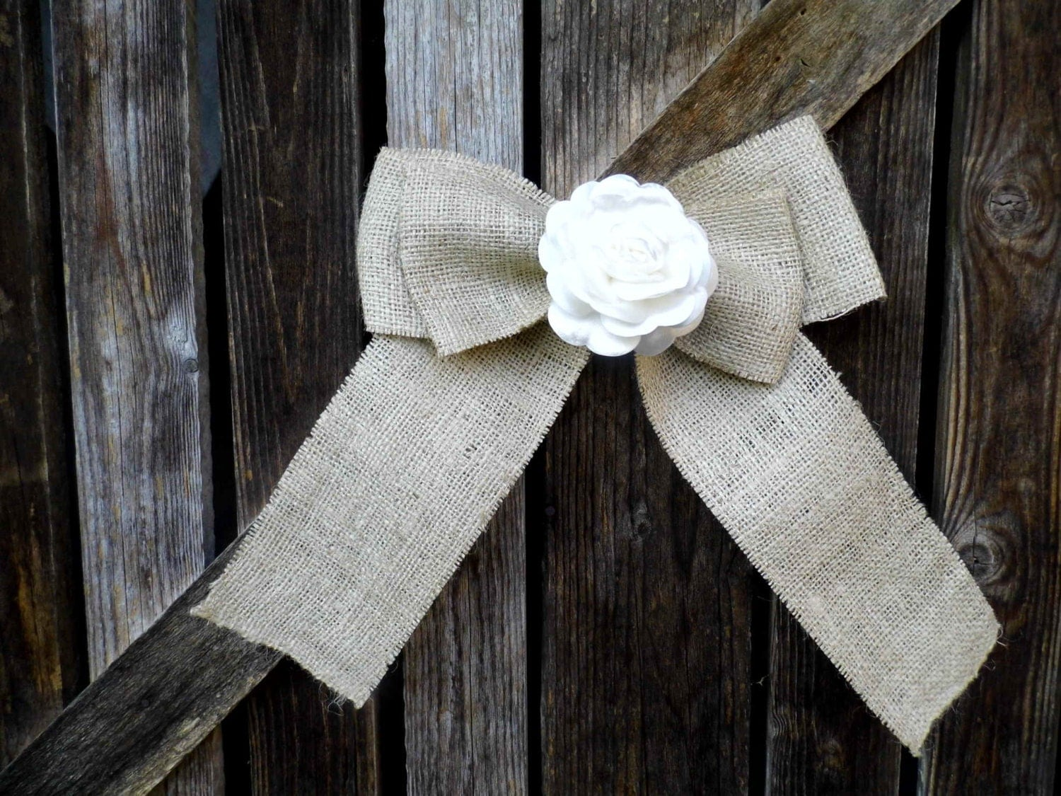 burlap bows for wedding chairs target office pew chair decorations