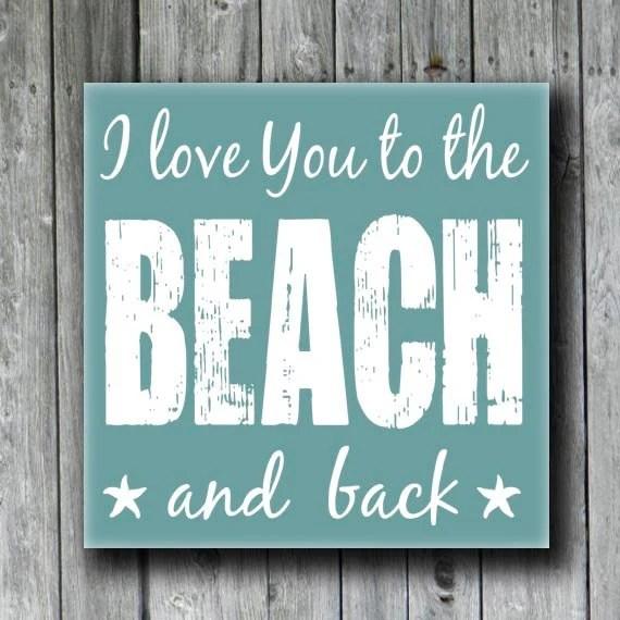 Download Beach Wedding GiftBeach House SignI Love You to the BEACH