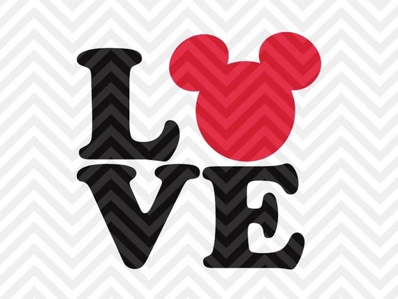 Download Love Disney Mickey Mouse Minnie Mouse SVG by ...