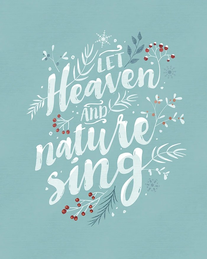 Let Heaven And Nature Sing Christmas Printable By