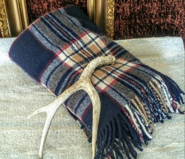 Vintage Wool Camp Blanket Sofa Throw Lap Stadium