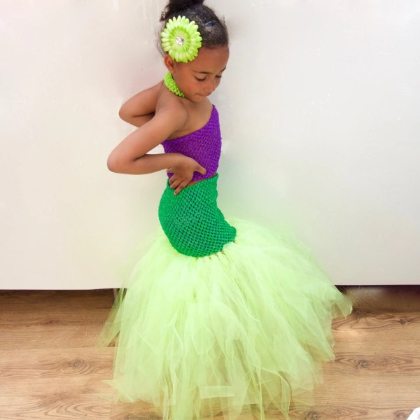 Disney Little Mermaid Tutu Dress Inspired Girl' Costume