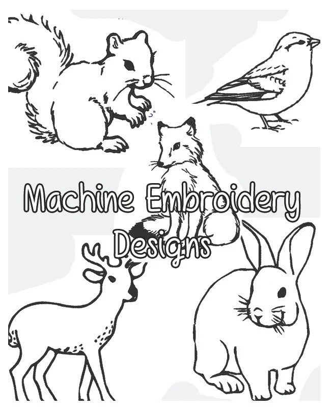 Woodland Creatures Embroidery Designs .PES format- Five