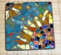 ON SALE 6x6 inch Sunflower Mosaic Wall by PhoenixAndFoxMosaics