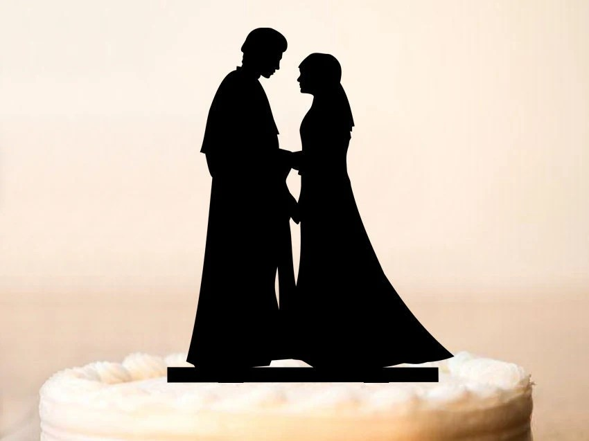 Star Wars Cake Topper Anakin and Padme Cake Topper Star Wars