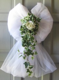Items similar to Wedding Decorations Rose Ivy Tulle Bows ...