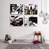 Chanel Makeup Bathroom Decor Set of 4 boho copper decor