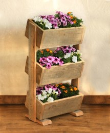 Vertical Planter Boxes Reclaimed Wood Stacked