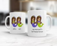 Best Friend Mug Personalized Quote Mugs For BFF Mermaid To Be