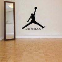 Michael Jordan Wall Decal Art Decor Sticker Vinyl Jumpman