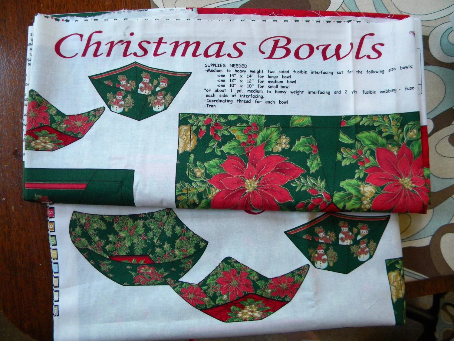 Microwave Bowl Potholder Christmas Bowls Three Set Three