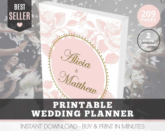Wedding Planner Organizer Printable Wedding by
