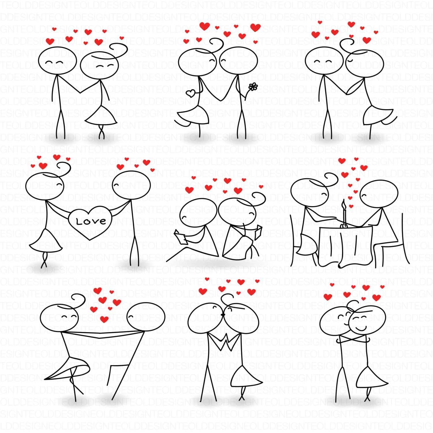 Stick Figure Clipart Clip Art Love Stick People By Teolddesign