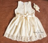 Ivory Flower Girl Dress Lace