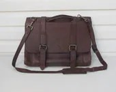 Vintage Leather Laptop ba...