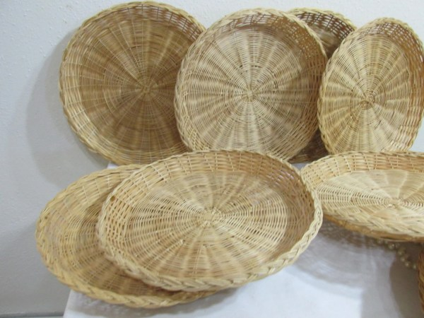Wicker Rattan Paper Plate Holders