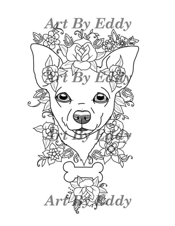 Art of Chihuahua Coloring Book Volume No. 1 Physical by