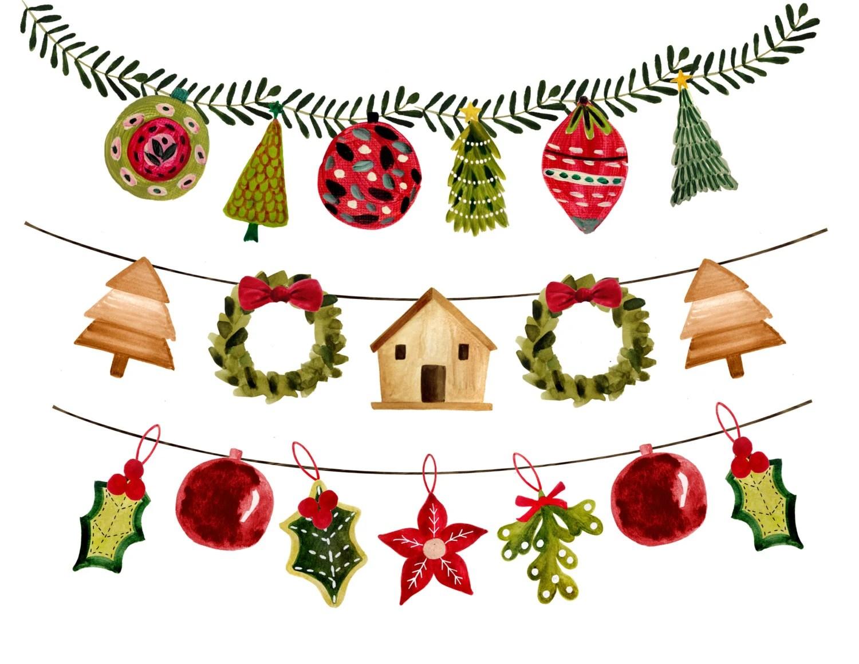 Christmas Clipart Christmas Garlands Christmas Borders